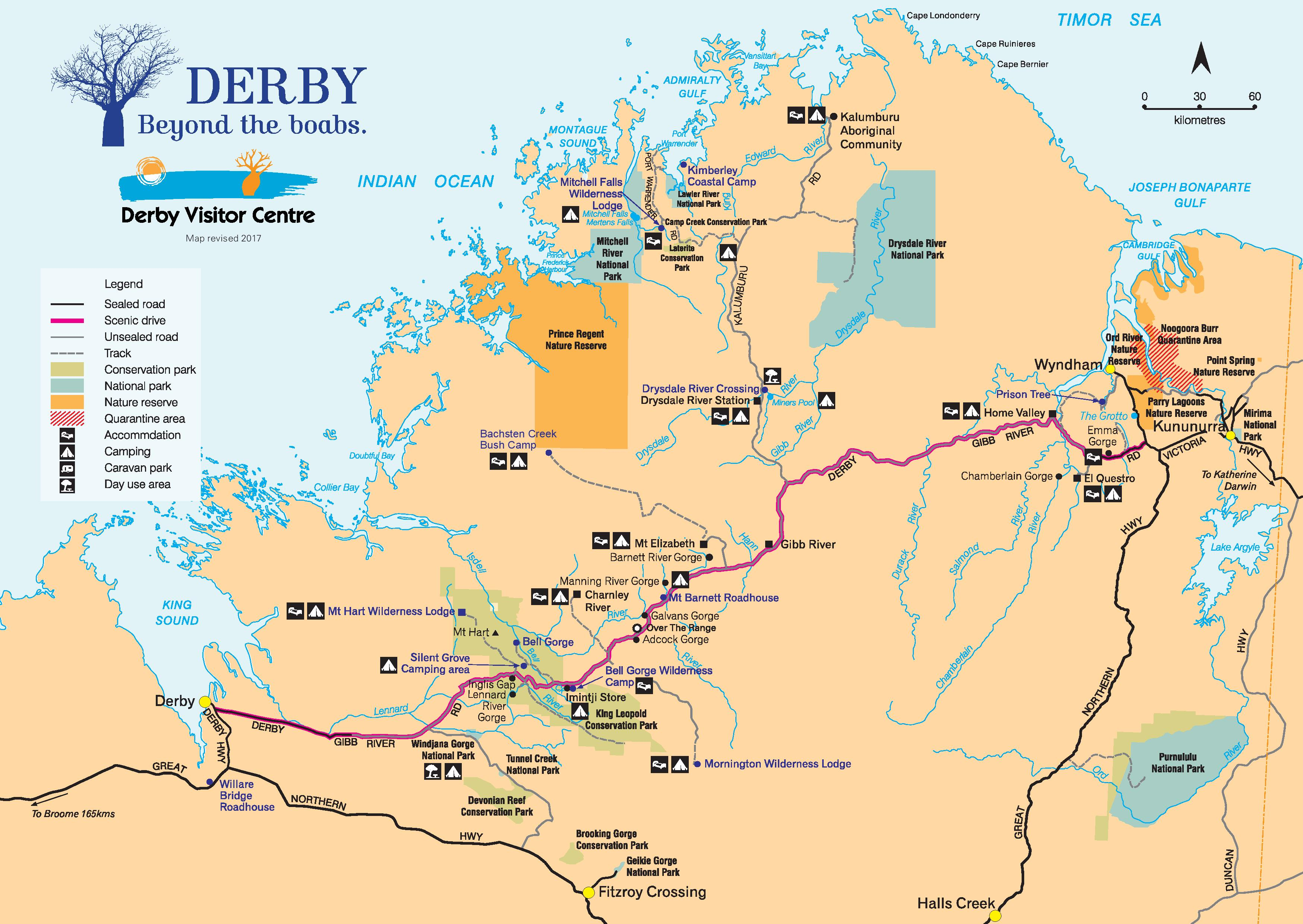 Map of the Gibb River Road | Australia\'s North West
