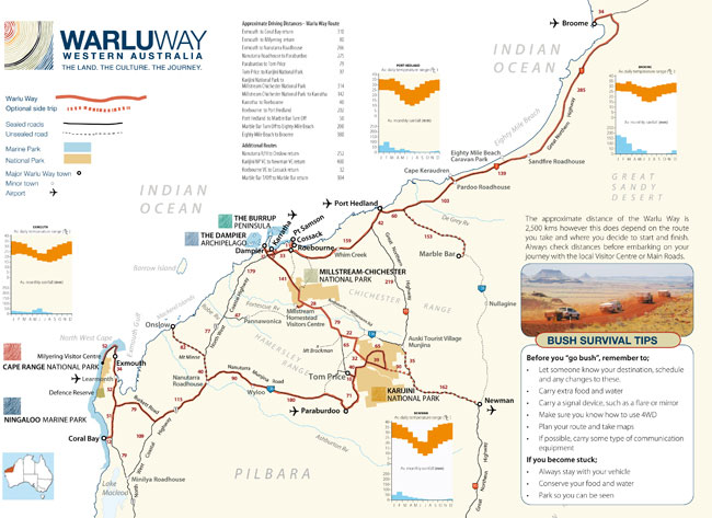 Western Australia 4wd Map.The Warlu Way Australia S North West
