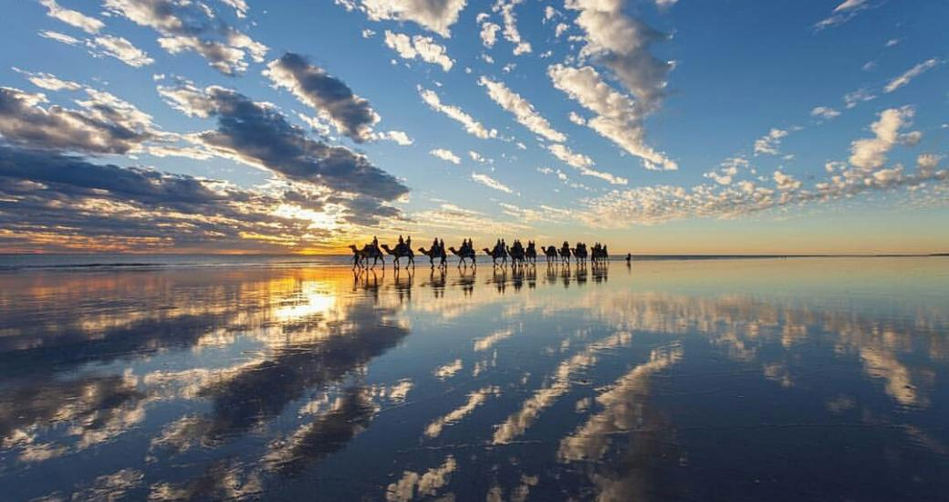 Sunset camel ride with Broome Camel Safaris in Broome Western Australia