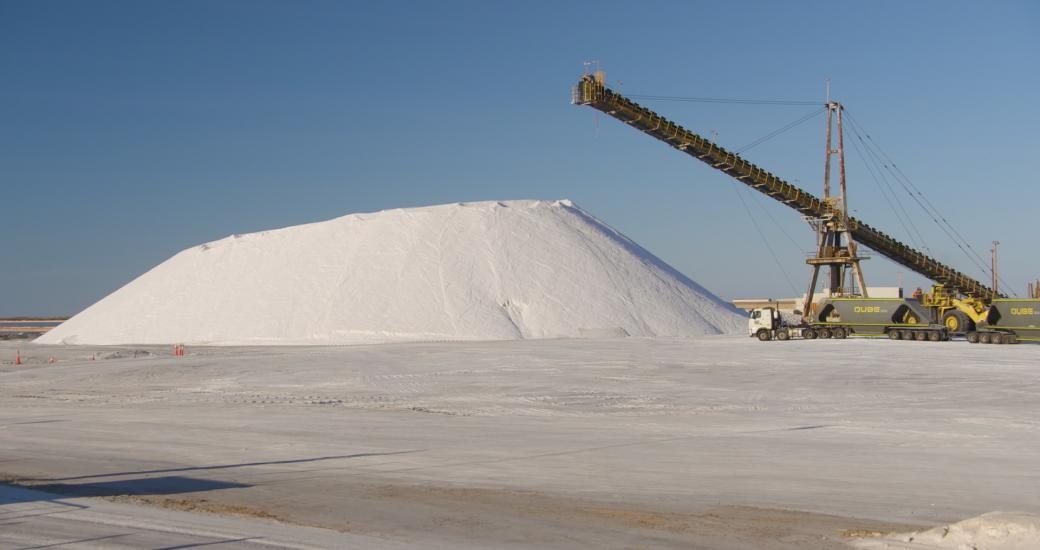 Salt piles on Pilbara Tours Salt Eco Tour