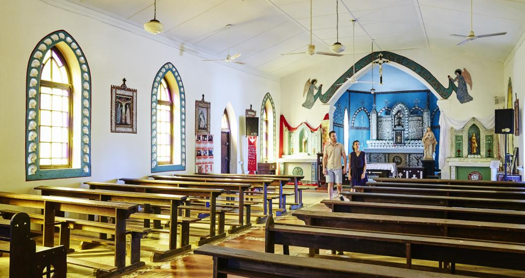 Sacred Heart Church, Beagle Bay on the Dampier Peninsula (Tourism Western Australia)