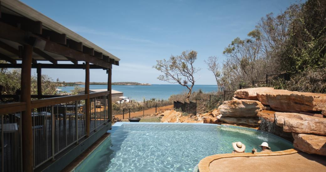 Restaurant and swimming pool at Cygnet Bay Pearl Farm (Tourism Australia)