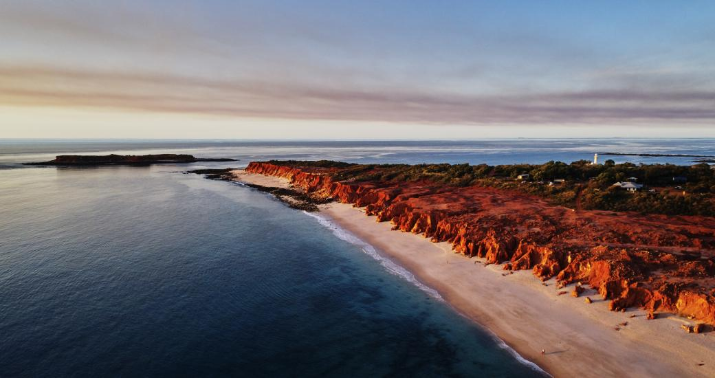Aerial view of Kooljaman at Cape Leveque. Image: Tourism Western Australia