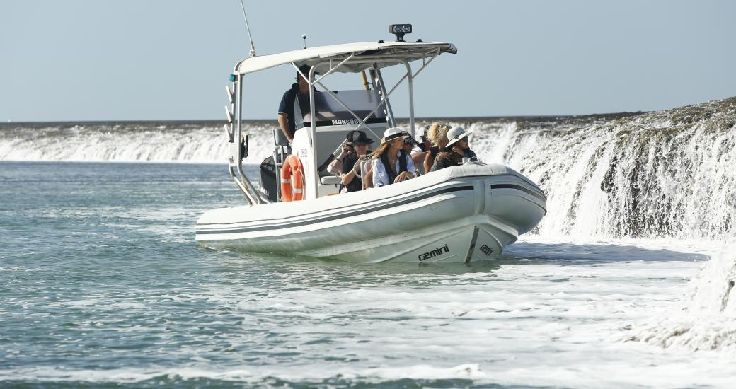 Waterfall Reef Tour from Cygnet Bay Pearl Farm. Image: Cygnet Bay Pearl Farm