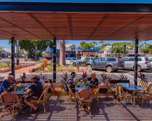 Al fresco dining in Chinatown, Broome WA