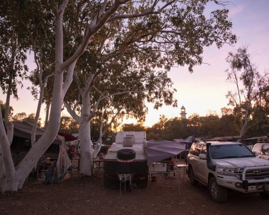 Camping area at Kooljaman at Cape Leveque (Tourism WA)