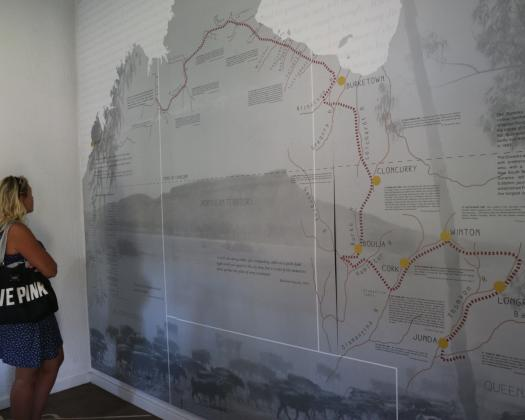 Interior display of the Durack family's trek across Australia; Arygle Downs Homestead Museum. Image: Bo & Johan
