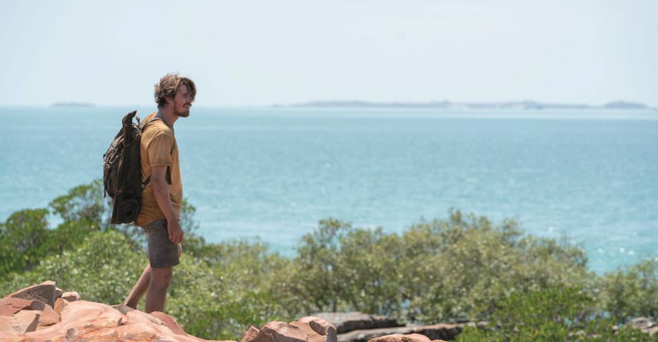 Lu Fox (Garrett Hedlund) overlooking the coast Coronation Gulf, DIRT MUSIC. Location: Dampier Peninsula, Bardi Jawi Country. Image: Pelgo (Dirt Music) Pty Limited and Wildgaze Films (Dirt Music) Limited