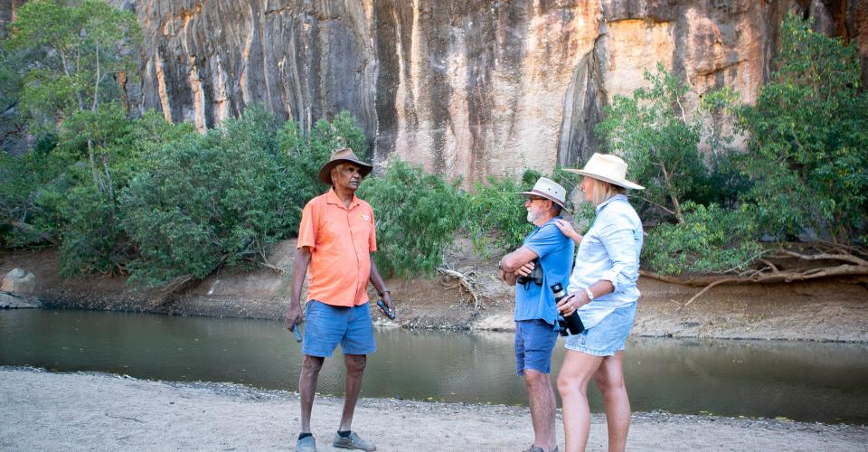 Denise and Michael with tour guide Dillon from Bungolee Tours