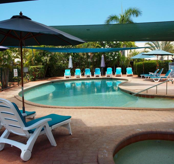Poolside at Broome Beach Resort