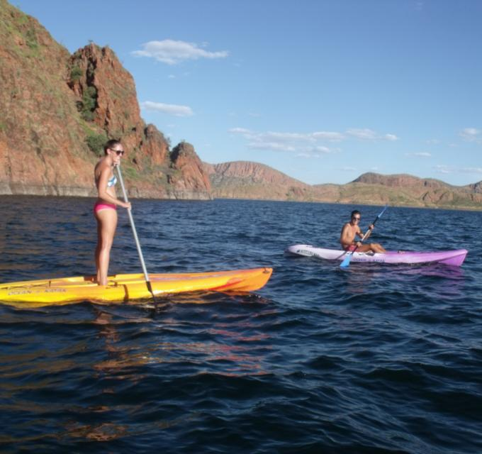 Board Hire with Lake Argyle Cruises