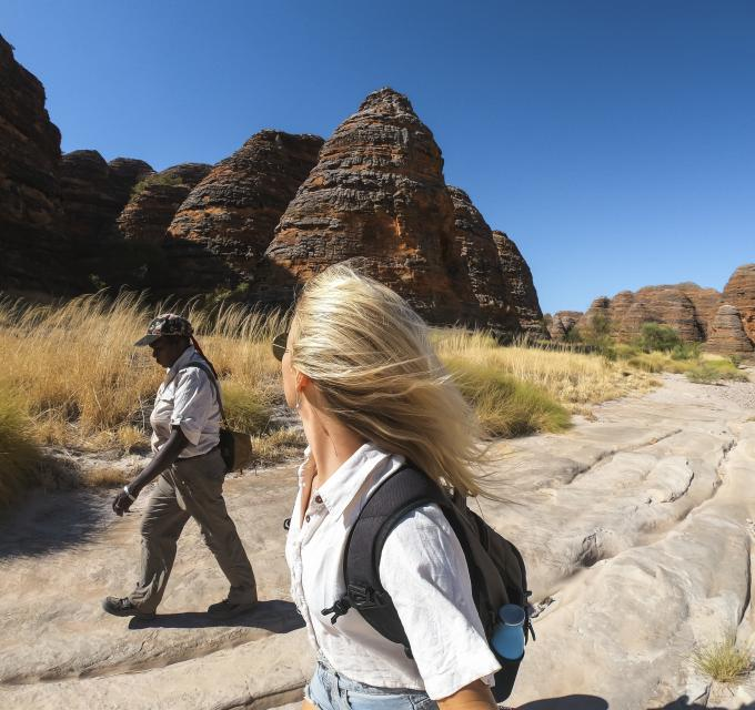 Guided trek at the Bungle Bungle.