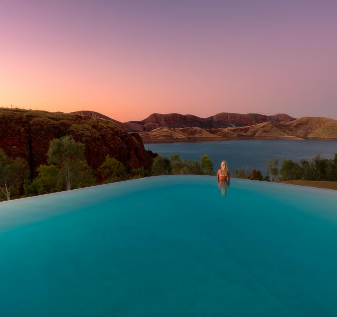 Swimming pool at Lake Argyle Resort near Kununurra. Image: C & J Maddock