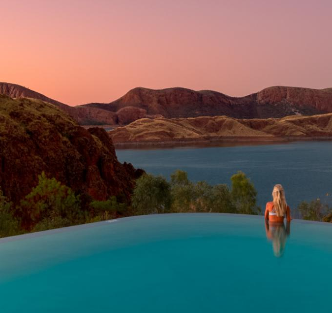 Lake Argyle Swimming Pool. Image: CJ Maddock