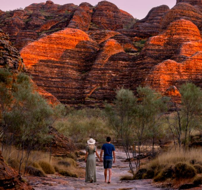 Walking through the Bungles at sunset. Image: CJ Maddock