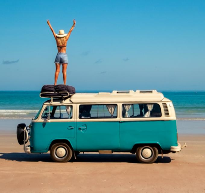 Combi on Cable Beach, Broome. Image: CJ Maddock