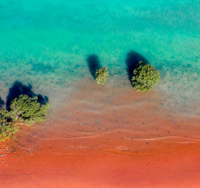Colours of Broome shore and water. Image: CJ Maddock