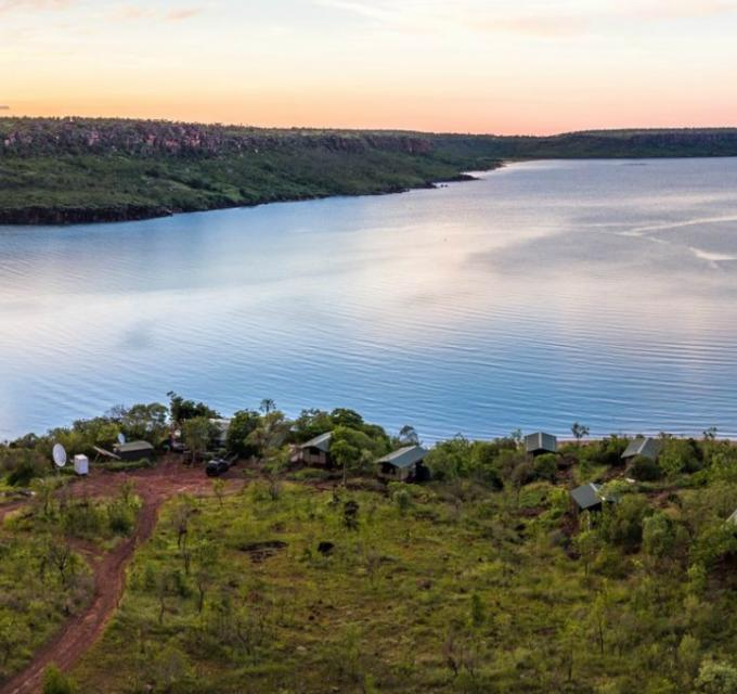 Aerial view of Faraway Bay on the remote Kimberley Coast. Image: Faraway Bay